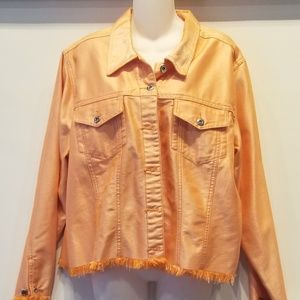 Tangerine Denim Jacket Plus